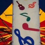 photo of musical notes on a carnival sign