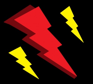 drawing of LIGHTNING BOLTS for Super Funny Superhero Humor