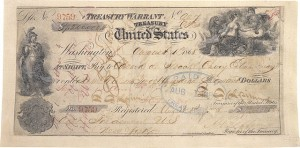 photo of the original check used to pay for Alaska, worth $7.2 million