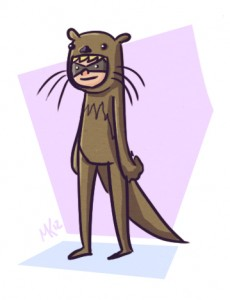 Cartoon of Otter Boy for 9 Largely Forgotten Superheroes